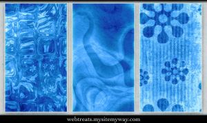 Icy Blue Seamless Patterns by WebTreatsETC