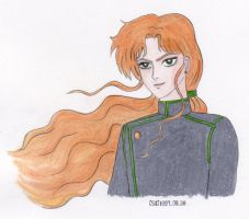 Zoisite with flowing hair by stayka