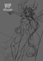 WIP - Vrantii, Thunder Goddess by ADSouto