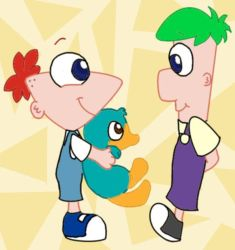 Wittle Phineas and Ferb by rattysrule