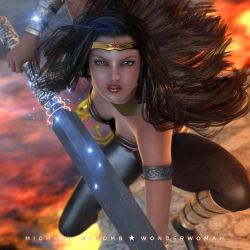 Wonderwoman #3 [3D] by iampoolboy