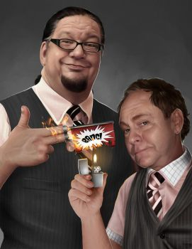PENN and TELLER by Sheridan-J