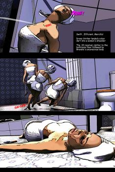 Shower Takedown on Brandie  (comic style 1) by yankee30
