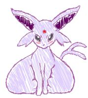 (Quick Sketch) Espeon by Ticki-Ticki