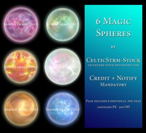 Magic Spheres Pack by CelticStrm-Stock by CelticStrm-Stock