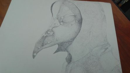 Plague Doctor (Pointillism) by NezrynGrimm