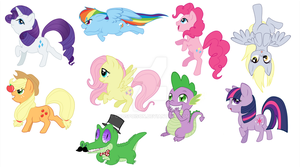 -My Little Pony- Keychains by Godspoison
