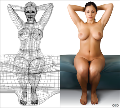 Gradient Mesh - Aria Giovanni by greenchains