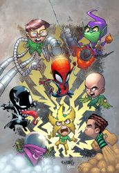 Spiderman versus lil Sinister Six by Rene Cordova by DanOlvera