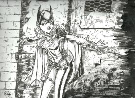 Batgirl against the wall by JoshRuud