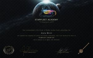 Starfleet Academy Diploma by PlaysWithWolves