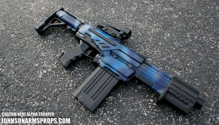 Custom Nerf Alpha Trooper - Night Camo edition by JohnsonArmsProps