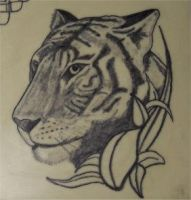 Tiger Tattoo on fake skin by HotWheeler