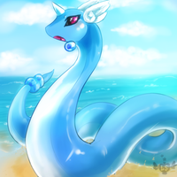 Dragonair by LoveSpellArt