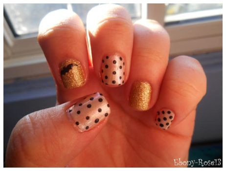 Simple Dots Nails by Ebony-Rose13