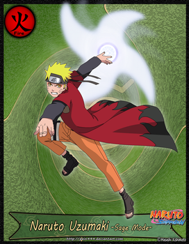 Naruto Uzumaki Sage Mode by pein444