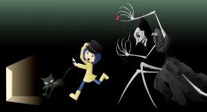 Coraline - Don't Sew My Eyes by Fandias