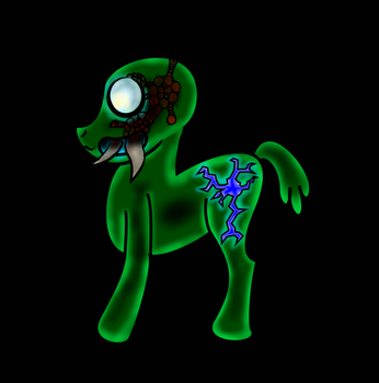 Metroid Pony by Lunarctic