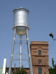 Stock - Industrial Water Tower by Jewlgurl