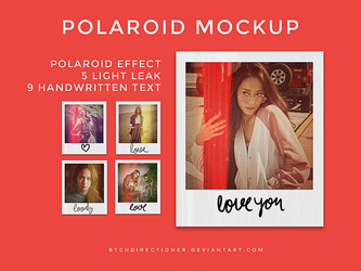 realistic polaroid mockup by btchdirectioner