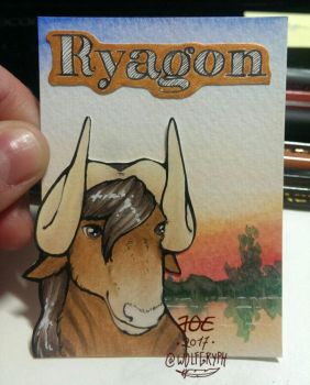 ACEO Badge Ryagon by wolfgryph