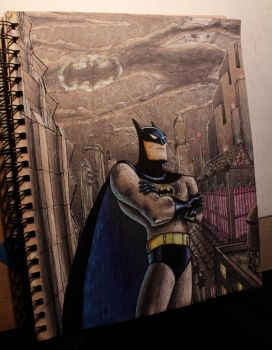 '90s Animated Batman Drawing by MelodicChronic