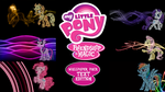 My Little Pony FIM Wallpaper Pack Text Edition by BlueDragonHans