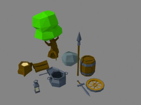 Random low poly assets by Bug88