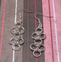 Japanese Lattice Earrings by lavadragon