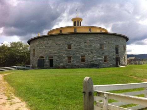 Round Stone Barn Heritage Shaker Society by RaspingHerWords
