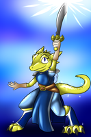Sapphire the Cleric - Hope Reborn (Gold) by Ryusuta