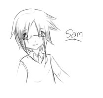 Sam is smiling by AllennellA