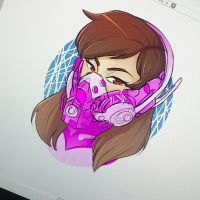 Cyperpunk D.Va by LollyDoom
