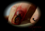 Busted zombie nail 1 by GothicRavenMidnight