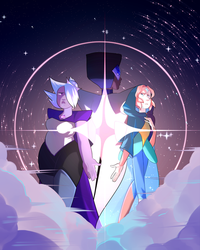 CRYSTAL GEMS AS DIAMONDS | Speedpaint by KitsuneZakuro