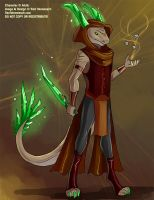 [Design Commission] Earth Mage Dragon by Ulario