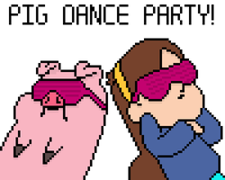 Pig Dance Party by KieranFilth