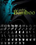 Lucky Bamboo Photoshop Brushes by pstutorialsws