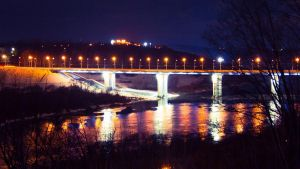 The bridge on the right bank by Parasenak