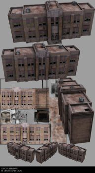 Grungy School Building by Mental-Radiation