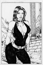 Mariah Benes: Donna Troy by comiconart