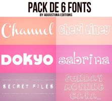 Pack de fonts #02 by AguustiinaEditions