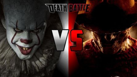 Death Battle Pennywise Vs. Freddy Krueger V2 by Alvin1794