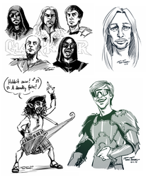 Power Metal Doodles by TariToons