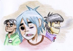 Gorillaz by Banana-L
