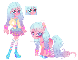 Auction- Pony + EQG (Closed) #3 by GihhBloonde