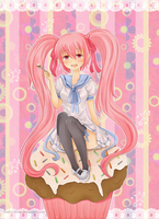 .Toki Contest - Cupcake love. by lNeko-Hime