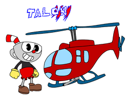 Twisted metal all Stars Cuphead use the talon by fanvideogames