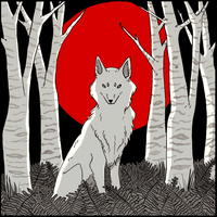 Inktober: Wolf by MooncatsAndSparrows