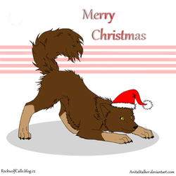 Merry Christmas Wolf by AnitaStalker